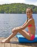 Pretty Preteen at Lake — Stock Photo