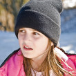Stock Photo: Young Girl in Snow