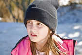 Young Girl in Snow — Stock Photo