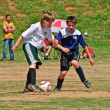 Boy's Soccer Fight For the Ball — Stock Photo #8415584