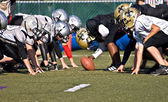 Youth League Football Line of Scrimmage — Stock Photo