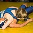 Two Young Boys Wrestling — Stock Photo
