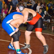 Foto Stock: Large Boys Wrestling