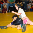 Young Girl and Boy Wrestling — Stock Photo #8444666