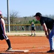 Coaching Girl's Softball — Stock Photo #8444809