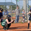 Stock Photo: Girl's softball At Bat