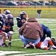 Stock Photo: Injured Player Youth Football