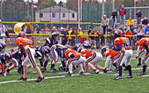 Youth Football, Line of Scrimmage — Stock Photo