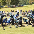 Little League Football Line of Scrimmage — Stock Photo