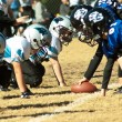 Football Scrimmage Line Close — Stock Photo #8479124