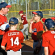 Stock Photo: Coaching Youth League Baseball
