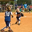 Young Girls Softball — Stock Photo