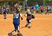 Young Girls Softball — Stock Photo