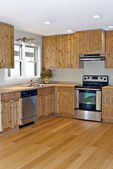 Small Kitchen Bamboo and Pine — Stock Photo