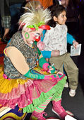 Clown Signing Autographs at the Circus — Stock Photo