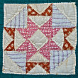 Antique Quilt Pattern — Stock Photo