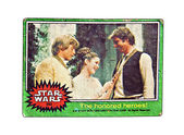 Original Star Wars Card, the Honored Heroes. — Stock Photo