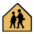 Overweight Children Crossing — Stock Photo