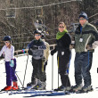 Stock Photo: Family Snow Skiers