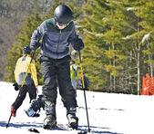 Young Boy Ready to Ski — Stock Photo