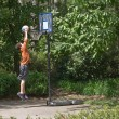 Boy Playing Basketball — Stock Photo