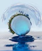 Spheres&water — Stock Photo