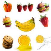 Na białym tle owoc — Zdjęcie stockowe