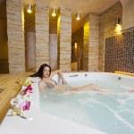 Girl in hot tub — Stock Photo #10221697