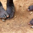 Feet of africchildren — Stock Photo #10261245