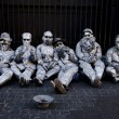 Постер, плакат: Group of street entertainers on the street in Rome Italy