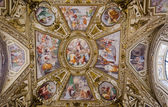 Ceiling in Santa Maria in Trastevere, Rome — Stock Photo
