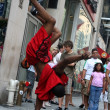 Street dancers — Stock Photo