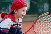 Tennis boy — Stock Photo