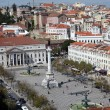 Rossio Square (Praca do Rossio) in Lisbon, Portugal — Stock Photo