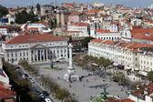 在里斯本,葡萄牙的罗西奥广场 (帕拉做 rossio 广场) — 图库照片