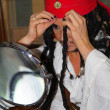 Actor in the process of creating an image of Jack Sparrow — Stock Photo #8522744