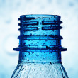 Macro of bottle neck with water drops — Stock Photo #10580378