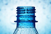 Macro of bottle neck with water drops — Stock Photo