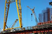 起重机新桥的施工 — 图库照片