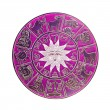 Magenta horoscope wheel — Stock Photo
