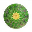 Green horoscope wheel — Stock Photo