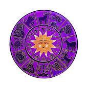 Pink horoscope wheel — Stock Photo