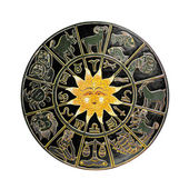 Black horoscope wheel — Stock Photo