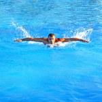 Swimming hard — Stock Photo #8949013