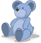 Blue Teddy bear — Stock Vector
