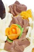 Ornamented cake — Stock Photo