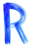 R letter — Stock Photo