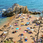 La Roca Grossa Beach in Sant Pol de Mar, Spain — Stock Photo