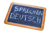 Sprechen deutsch, german is spoken — Stok fotoğraf