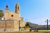 Church of Sant Bartomeu i Santa Tecla Sitges, Spain — Zdjęcie stockowe